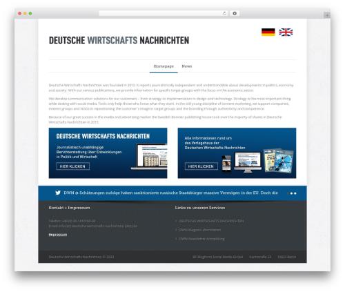 Quare newspaper WordPress theme - deutsche-wirtschaftsnachrichten.com