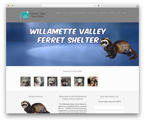 Rescue WordPress theme - willamettevalleyferretshelter.org