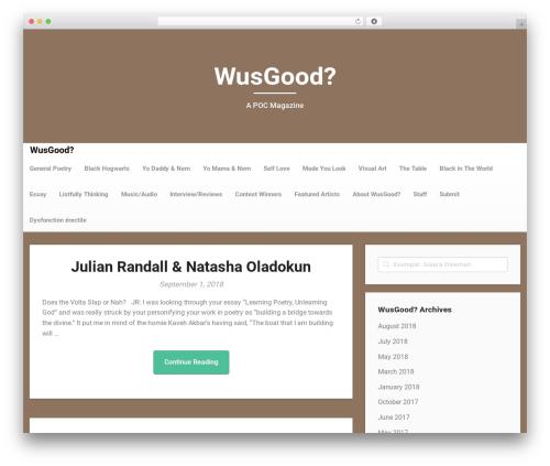 Responsiveness free WordPress theme - wusgood.black