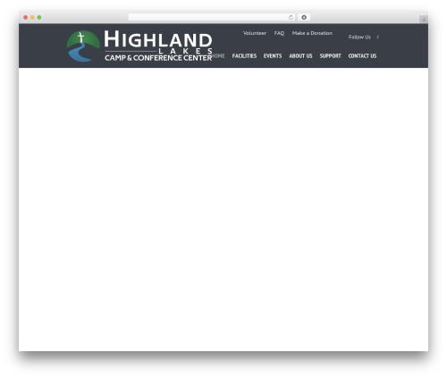 SevenHills top WordPress theme - highlandlakes.org