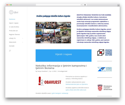 Template WordPress Divi - dptkzg.hr