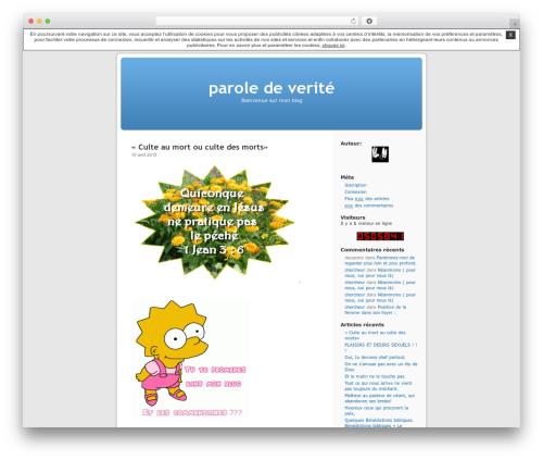 Thème par défaut WordPress blog template - chercheur.unblog.fr