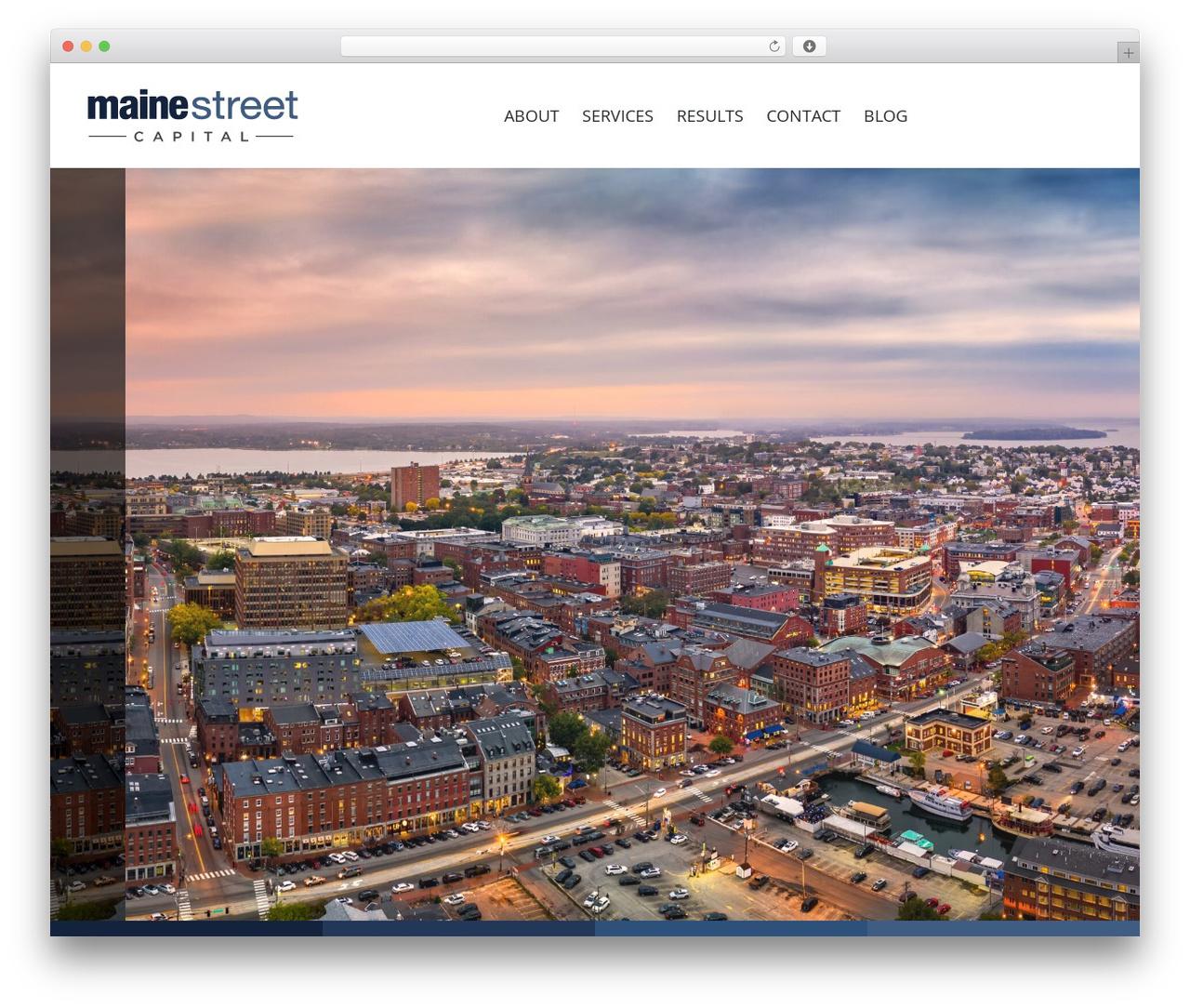 The7 real estate WordPress theme - mainestreetcapital.com