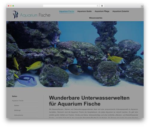 WordPress template The7 - aquariumfische.info