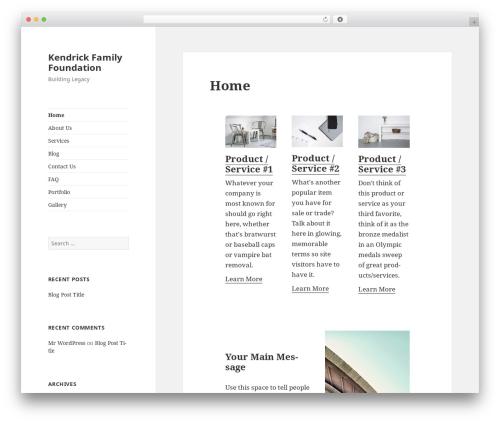 WordPress template Twenty Fifteen - kendrickfamilyfoundation.org