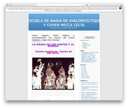 WordPress theme Thème par défaut - avalonceltique.unblog.fr