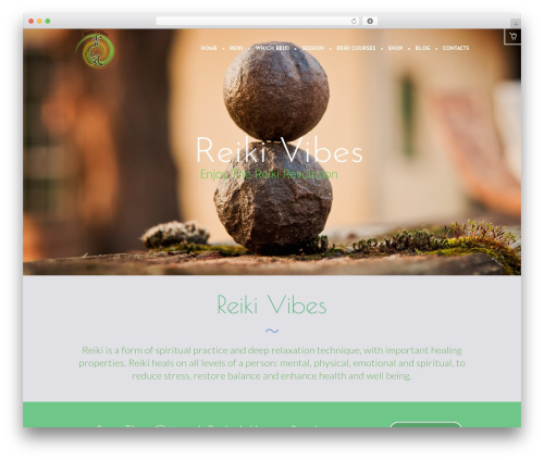 Yoga Fit template WordPress - reikivibes.org