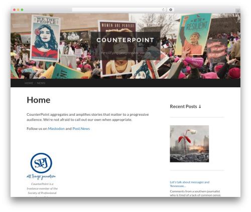 Best WordPress template Hemingway - counterpoint.org