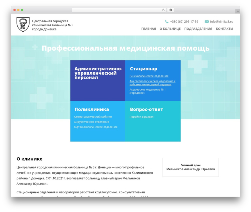 Clinic WordPress theme - klinika3.ru