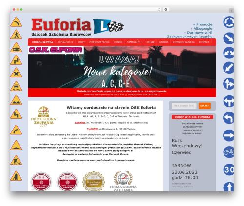 D5 Socialia free WordPress theme - osk-euforia.pl