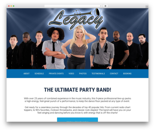 Legacy theme WordPress - legacyband.net