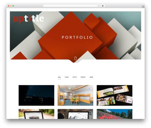 Narcos WordPress portfolio template - uptitle.de