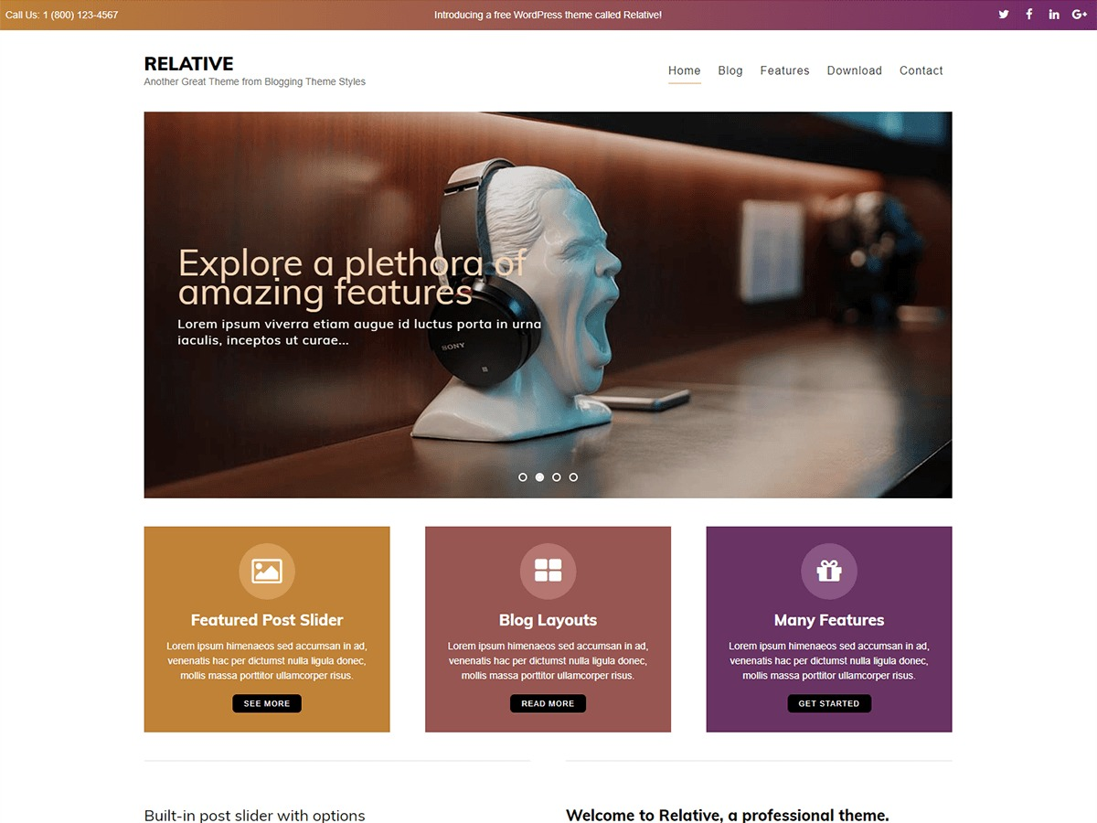 relative theme WordPress