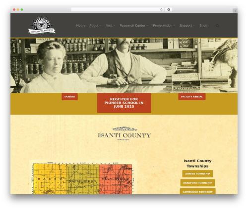 Theme WordPress Salient - isanticountyhistory.org