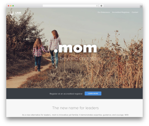 Uniregistry WordPress theme - nic.mom