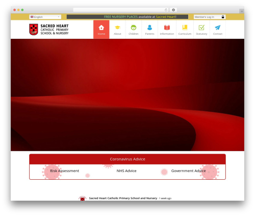 WordPress template Kiddie - sacredheartliverpool.school