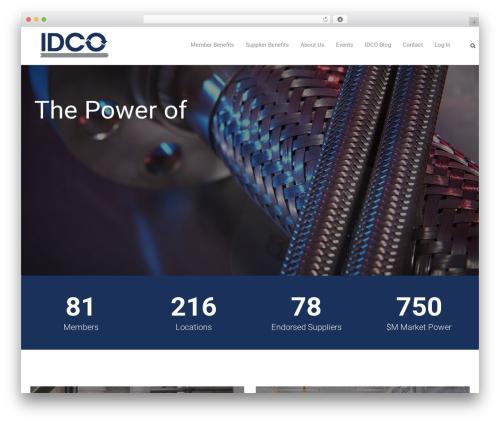 WordPress template Trade - idco.coop