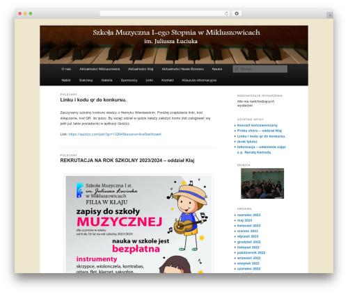 WordPress template Twenty Eleven - mikluszowice.art.pl