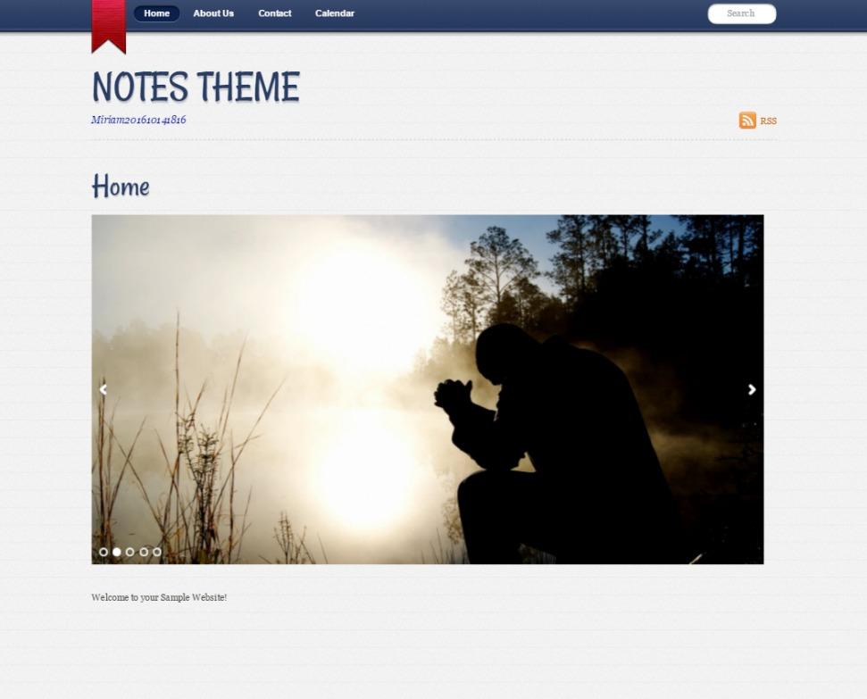 WordPress theme Notes