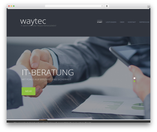Best WordPress template cherry - waytec.de
