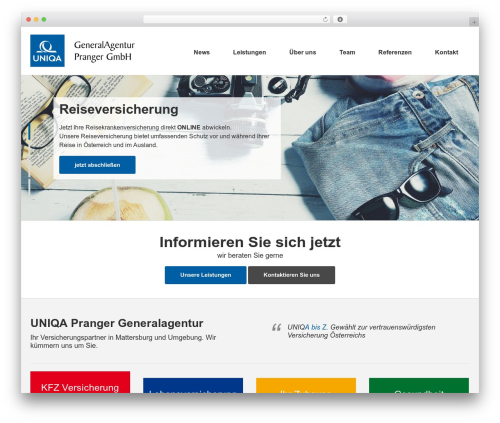 Best WordPress template Sensica - uniqa-pranger.at
