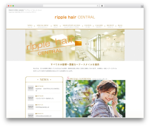 Best WordPress theme RAYMIX-Plain - ripple-hair.net