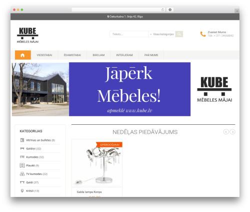 DashStore WordPress shopping theme - kube.lv