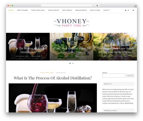 EasyNote best WordPress template - vhoney.net