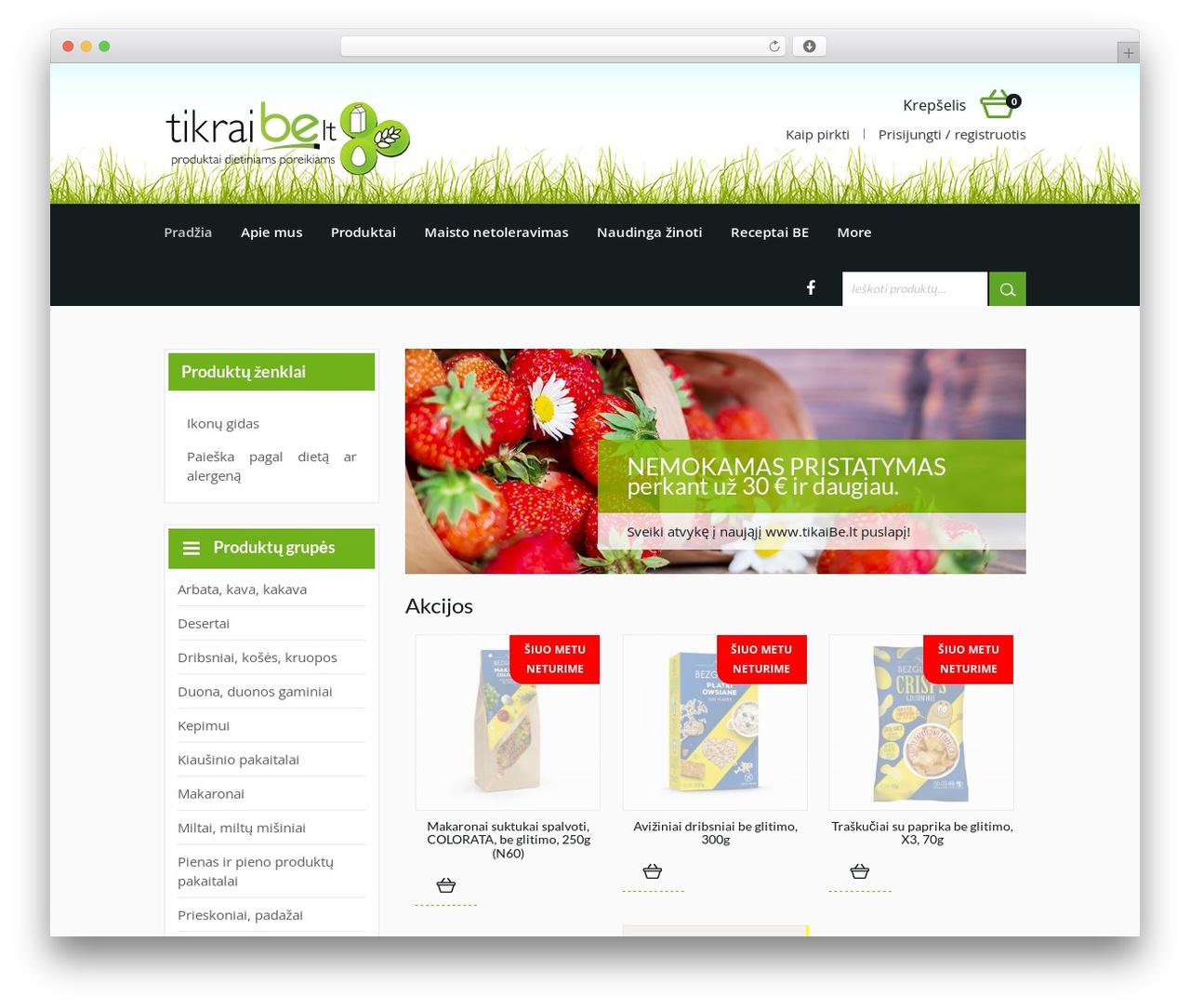 harveststore WordPress store theme - tikraibe.lt