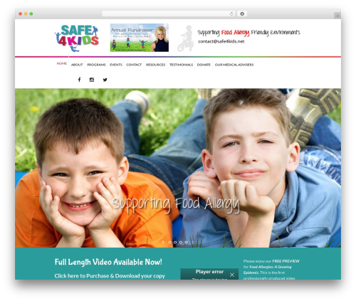 Kidslife theme WordPress - safe4kids.net
