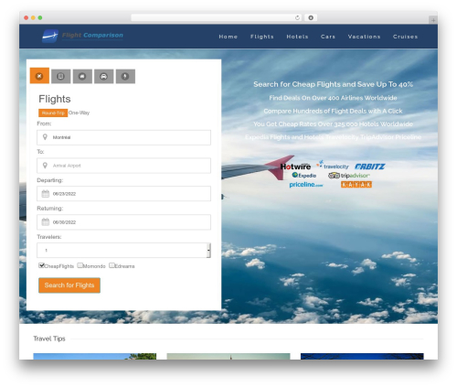Skylar theme WordPress - searchflight.net