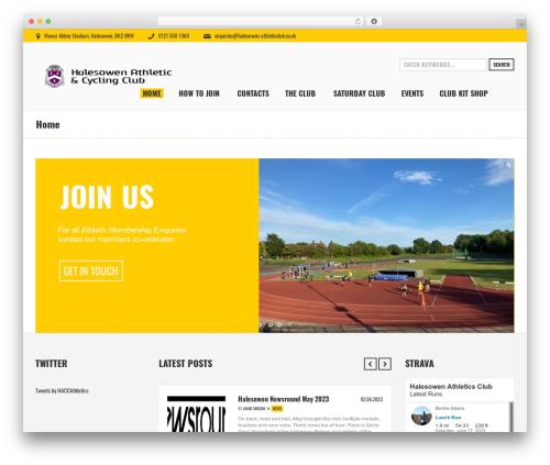 Sports Club WordPress theme - halesowen-athleticclub.co.uk