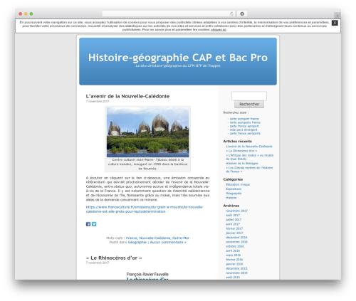 Thème par défaut WordPress page template - histoiregeographiebacpro.unblog.fr