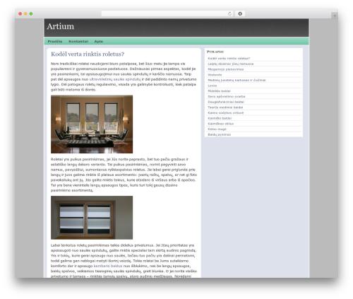 WordPress theme triplex - artium.lt