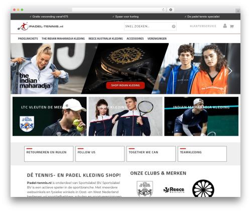 Wowmall WordPress website template - padel-tennis.nl