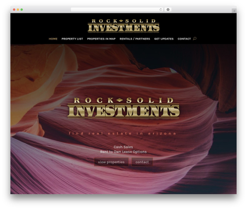 WP template Divi - rock-solid-investments-az.org