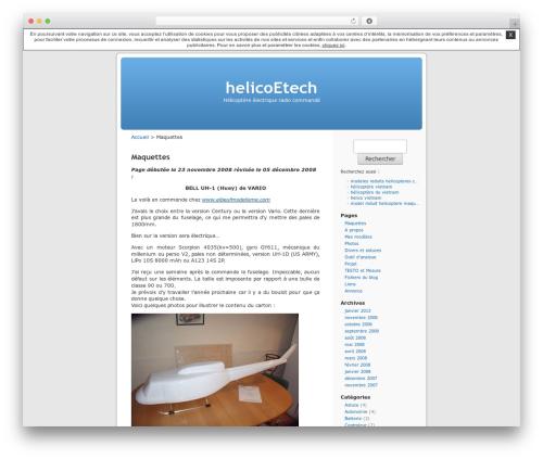 Best WordPress template Thème par défaut - helicoetech.unblog.fr