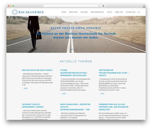 Bridge theme WordPress - bauakademie.de