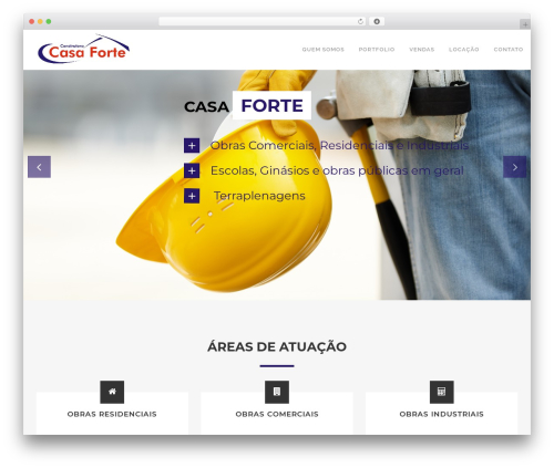 Craftsman Construction WordPress theme - construtoracasaforte.com.br