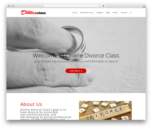 Divi WordPress theme - onlinedivorceclass.net