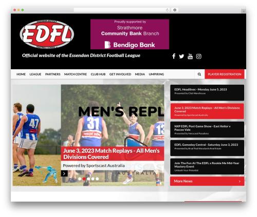 EDFL WordPress theme - essendondfl.com.au