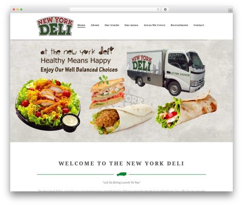Hot Coffee template WordPress - newyorkdeli.biz