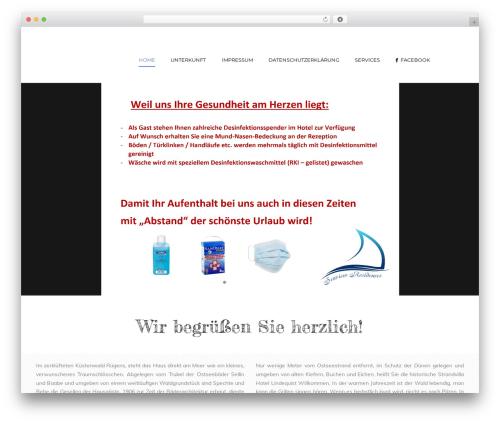 Hotel Master WordPress hotel theme - strandhotel-lindequist.de