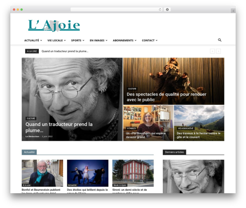 Newspaper theme WordPress - journal-lajoie.ch