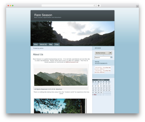 Ocean Mist WordPress theme - rareseason.net