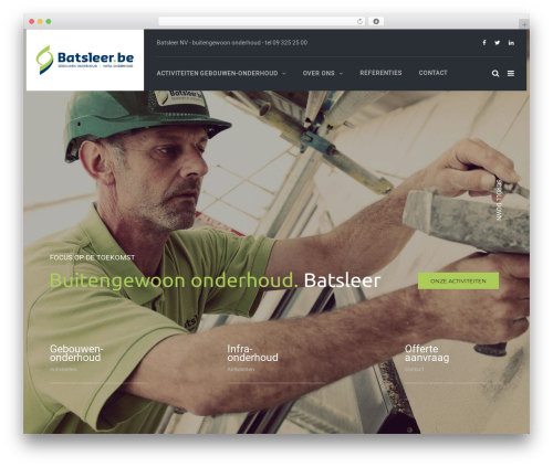 TheBuilt premium WordPress theme - batsleer.be