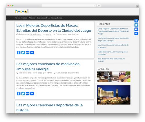 WordPress theme pacify - cantecademacao.org