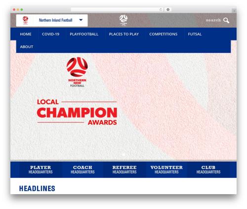 WordPress website template Elite - northerninlandfootball.com.au