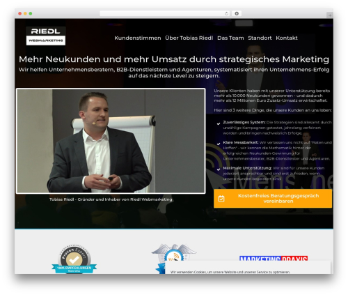 WordPress website template Minus - riedl-webmarketing.de