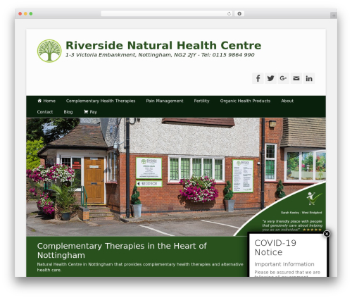 Catch Base Pro WordPress theme - riversidenaturalhealthcentre.co.uk